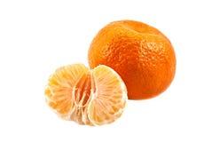 Spain mandarin on the white Stock Photo