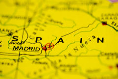 Spain Map Stock Photo
