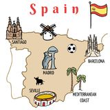 Spain Map Stock Images