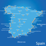 Spain map art  illustration Royalty Free Stock Photography
