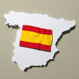Spain map Stock Photography
