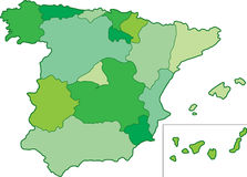 Spain map Stock Image