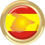 Spain map and flag Royalty Free Stock Images