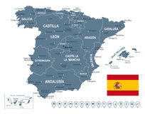 Spain map -illustration. Vector illustration of Spain map Stock Image