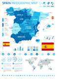 Spain map - infographic set Royalty Free Stock Images