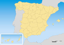 Spain map UTM Stock Photography