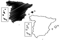 Spain map vector Stock Images