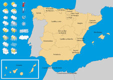 Spain Map Weather Convertido Stock Vector Illustration Of