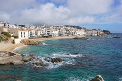 Spain Mediterranean coastal village Costa Brava Stock Photos