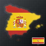 Spain modern halftone. Vector illustration of a modern halftone design element in the shape of Spain, European Union. Second halftone, border and contents, on Stock Photo