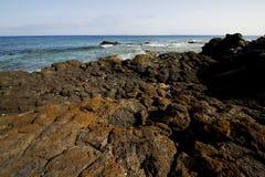 Spain musk pond rock stone sky    in lanzarote Stock Image