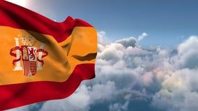Spain national flag floating vector illustration