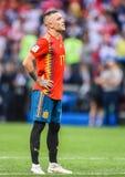 Spain national football team striker Iago Aspas. – Moscow, Russia - July 1, 2018. Spain national football team striker Iago Aspas during penalty shootout royalty free stock photo