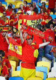 Spain national football team supporters Royalty Free Stock Photo