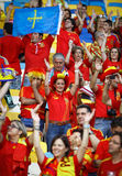 Spain national football team supporters Stock Photo