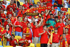 Spain national football team supporters Stock Image