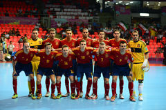Spain national futsal team Royalty Free Stock Image