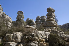 Spain National Park El Torcal de Antequera Stock Photography