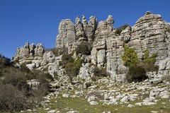 Spain National Park El Torcal de Antequera Stock Image