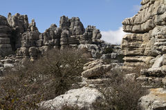 Spain National Park El Torcal de Antequera Royalty Free Stock Photography