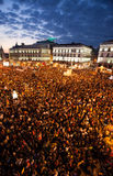 Spain national strike Stock Photo