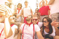 Spain Navarra Pamplona 10 July 2015 S Firmino fiesta a group of Stock Photography