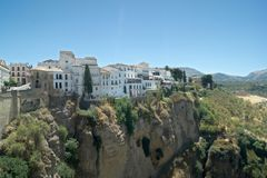 Spain, the old city of Ronda, Malaga. A view to the old Moorish quarter. royalty free stock images