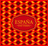 Spain pattern - Seamless Background texture and emblem Stock Photo