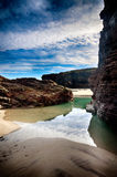 Spain, Playa de las catedrales Stock Photos