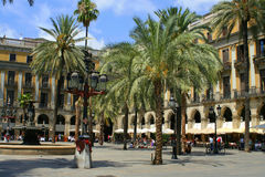 Spain plaza Royalty Free Stock Photos