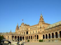 Spain Plaza. Plaza de espana in seville, andalusia region of spain Stock Images