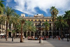 Spain plaza in Barcelona Stock Photography