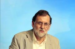 Mariano Rajoy headshot during speech Stock Image