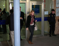 Spain princess Cristina leaves court Stock Image