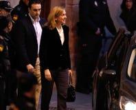 Spain Princess Cristina leaving court 03 Stock Photo