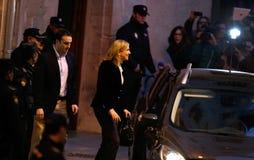 Spain Princess Cristina leaving court Stock Image