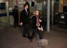 Spain princess Cristina leaving legal court Stock Images
