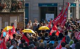 Spain protest Stock Photo