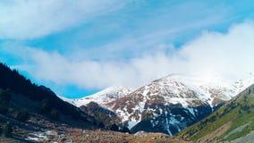 Spain pyrenees sun light mountain panorama 4k time lapse stock video
