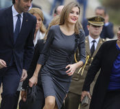 Spain Queen Letizia Royalty Free Stock Photography