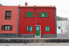 Spain red house Royalty Free Stock Image