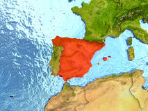 Spain in red Stock Photo