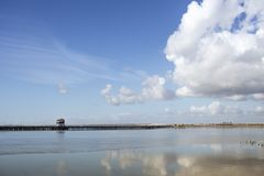 Spain river landscape stock image
