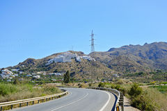 Spain, the road in the mountains Stock Image