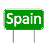 Spain road sign. Royalty Free Stock Image