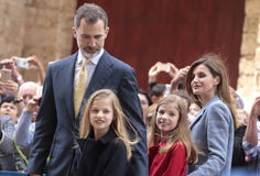 Spain royal family in Majorca Royalty Free Stock Photos
