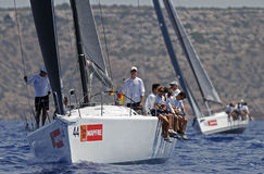 Spain Royal King Felipe sailing with the Aifos sail boat Stock Image