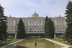 Spain. Royal Palace in Madrid. Facade. Royalty Free Stock Images