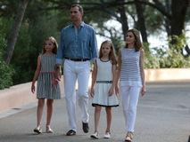 Spain royals summer holiday 012 Stock Images