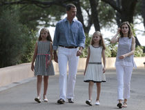 Spain royals summer holiday 002 Stock Images